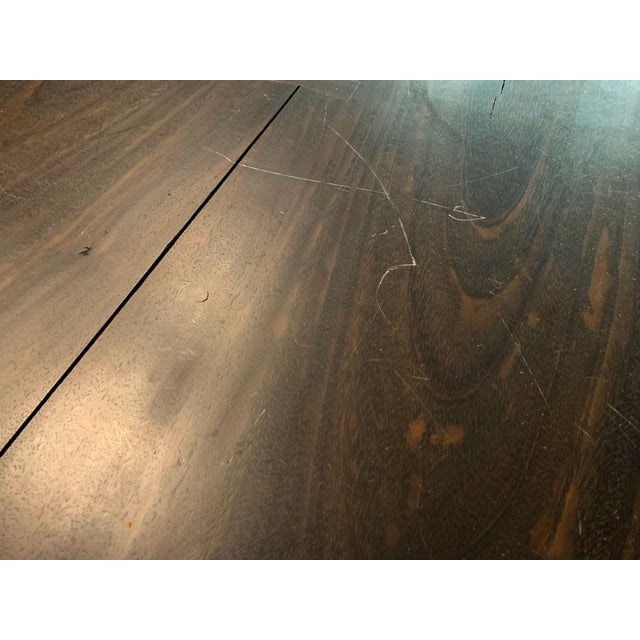 Brown Industrial Viento Ray Dark Steel and Reclaimed Wood Dining Table For Sale - Image 8 of 13
