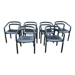 1980s Brian Kane Rubber Armchairs by Metropolitan Furniture Company - Set of 6 For Sale