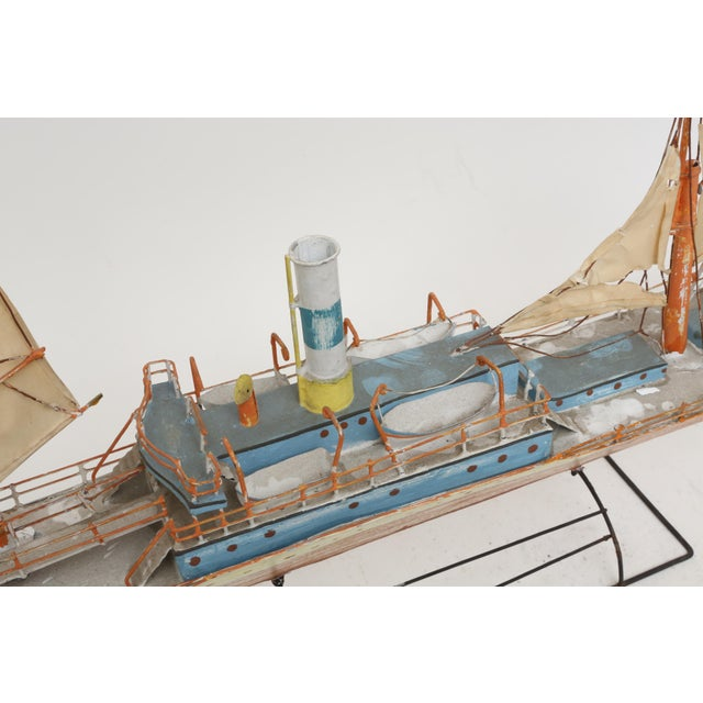 Large Model Boat Ship with Stand - Image 5 of 9