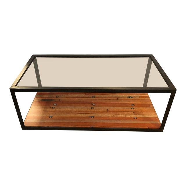 Vintage Custom Industrial Coffee Table For Sale