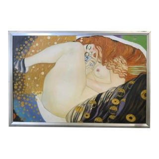 Nude Painting After Klimt Danae For Sale