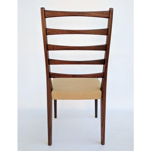 1960s Danish Modern Svegards Markaryd Rosewood Ladder Back Dining Chairs - Set of 4 For Sale - Image 9 of 13