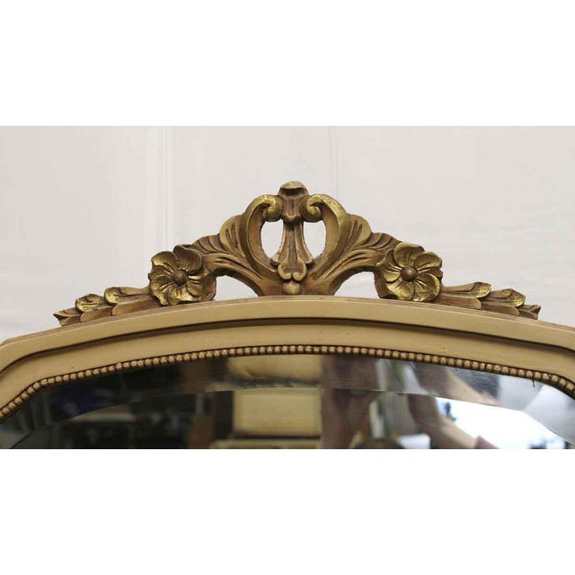 Antique Folding Mirror Vanity Table With Onyx Top For Sale - Image 4 of 8