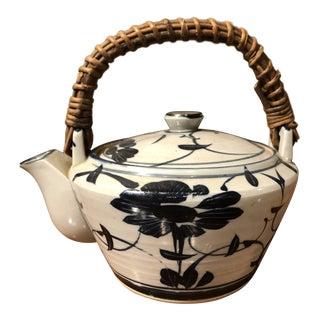 Vintage Ceramic Floral Teapot For Sale