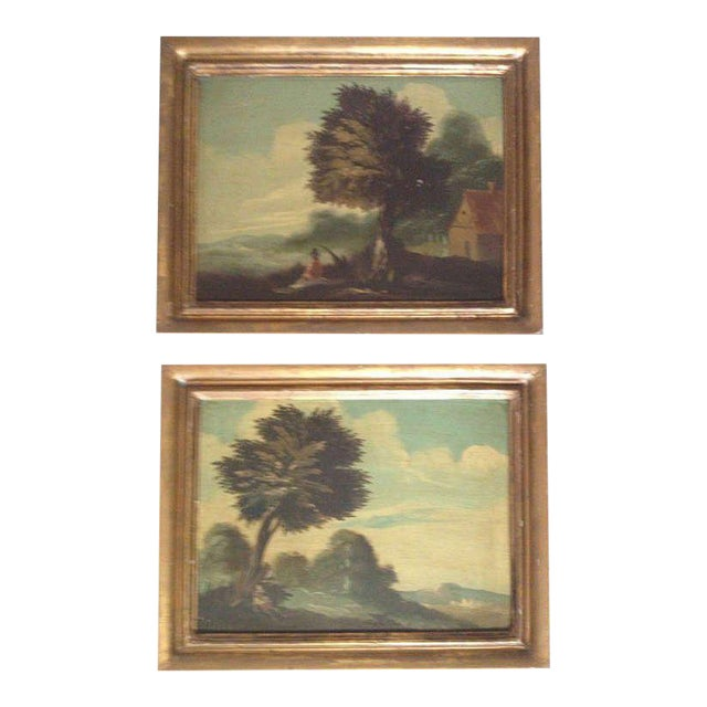 Pair of 19th Century Italian Landscapes For Sale