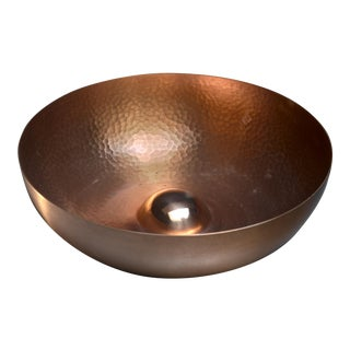 Tapio Wirkkala hand-worked copper fruit bowl for Kultakeskus, Finland For Sale