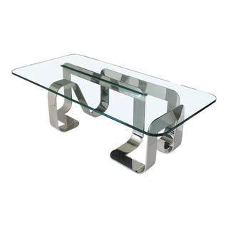 Gary Gutterman Sculptural Polished Steel Jason Coffee Table