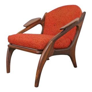 Mid-Century Danish Modern Adrian Pearsall Craft Associates Lounge Chair 2249-C For Sale