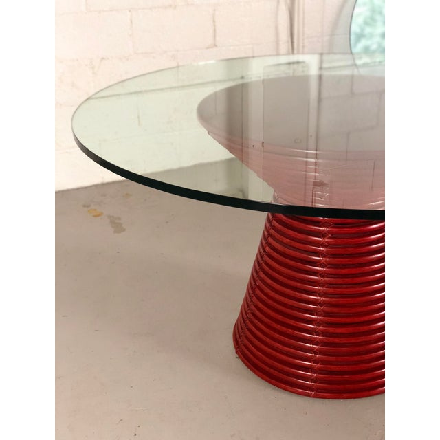 Contemporary McGuire Red Round Table For Sale In Detroit - Image 6 of 8