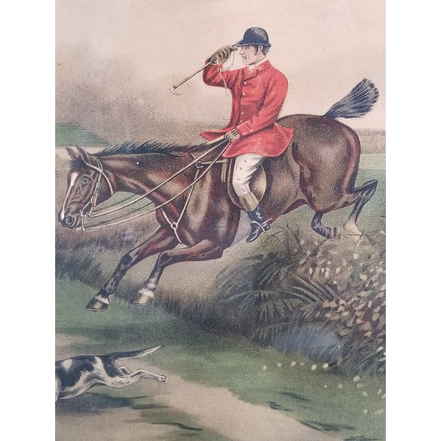 Antique English Hunting Framed Print For Sale - Image 10 of 13