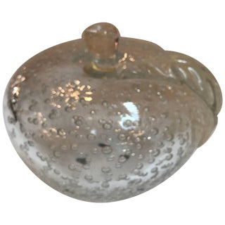 Mid-20th Century Italian Murano Glass Apple Sculpture