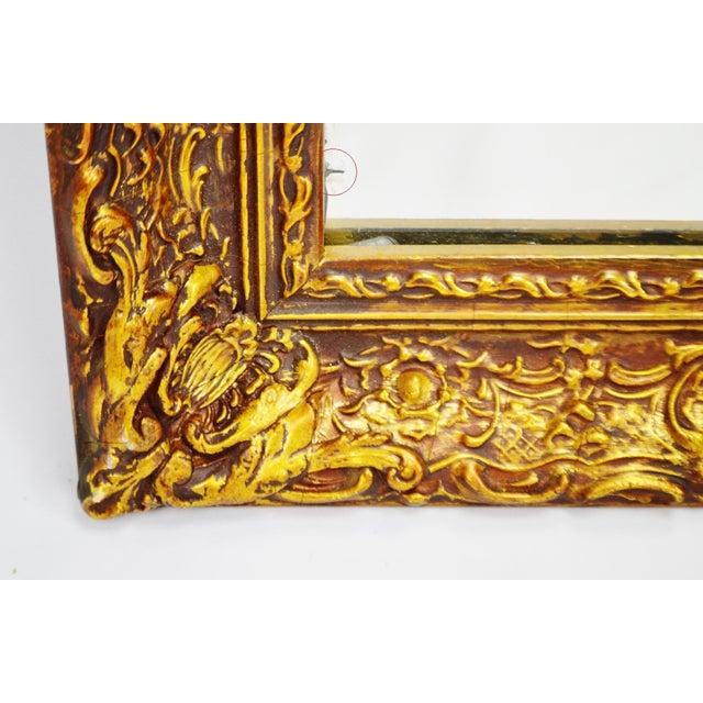 Vintage 1964 Gold Gilt Gesso Framed Wall Mirror - Image 4 of 9