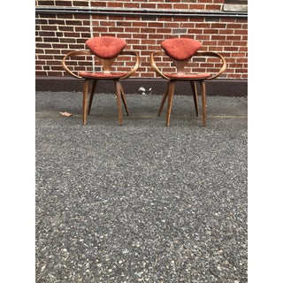 Modern Norman Cherner Dining Chairs- A Pair Preview