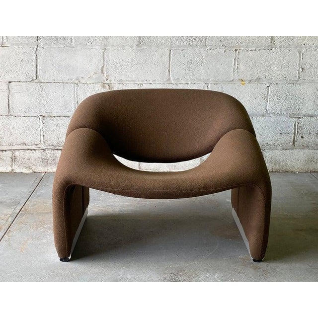 "Metal Mid Century Modern ""Groovy"" Armchair by Pierre Paulin for Artifort, Holland For Sale - Image 7 of 11"
