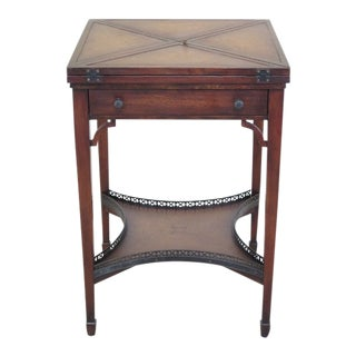 Theodore Alexander Leather Flip Top Games Table