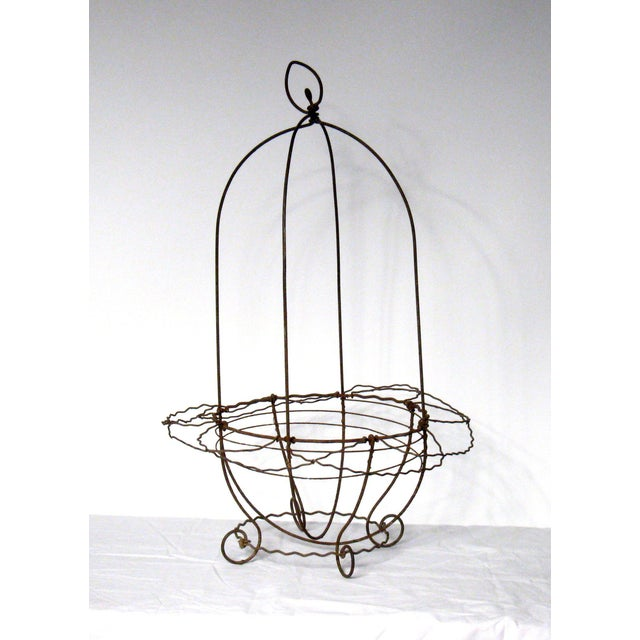 French Garden Hanging Basket Planter For Sale - Image 4 of 4