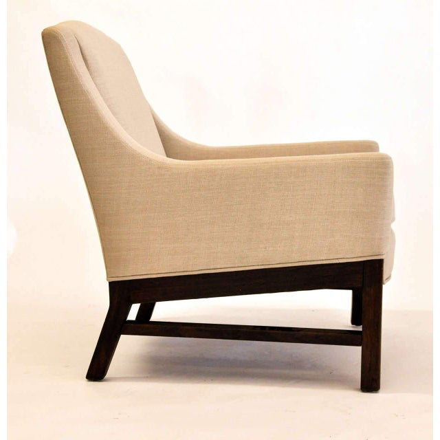 Dunbar Furniture Lounge Chairs Attributed to Edward Wormley for Dunbar, 1950s For Sale - Image 4 of 9