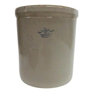 19th Century Antique Salt Glaze Stoneware Vase For Sale