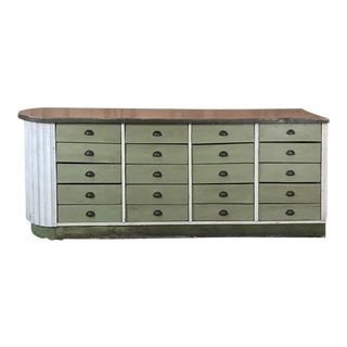Mid-Century Painted Store Counter For Sale