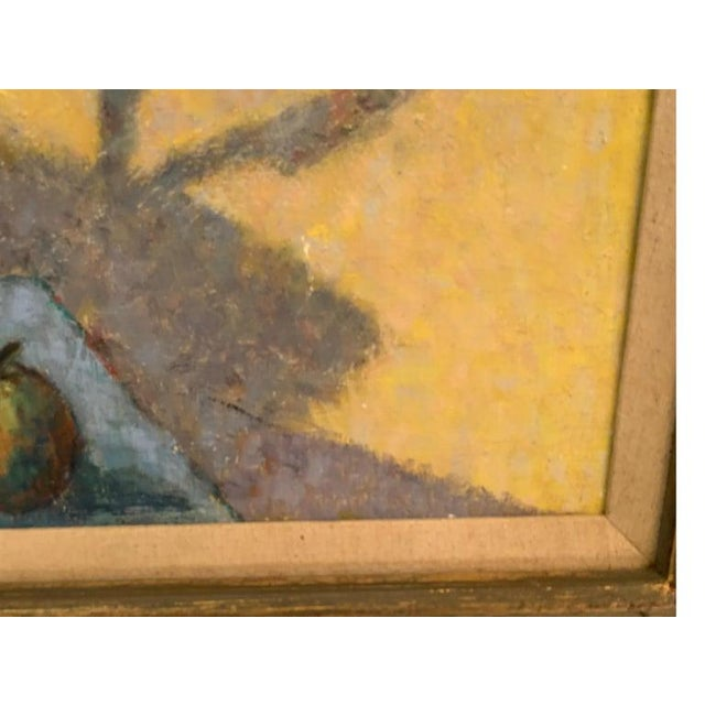 Canvas Mid-Century Modernist Still Life Oil on Canvas Painting For Sale - Image 7 of 10