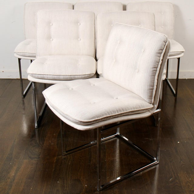 Milo Baughman for Thayer Coggin Chrome Dining Chairs For Sale - Image 10 of 10