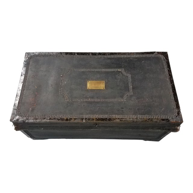 19th Century Nautical Royal Navy Officer's Campaign Chest For Sale