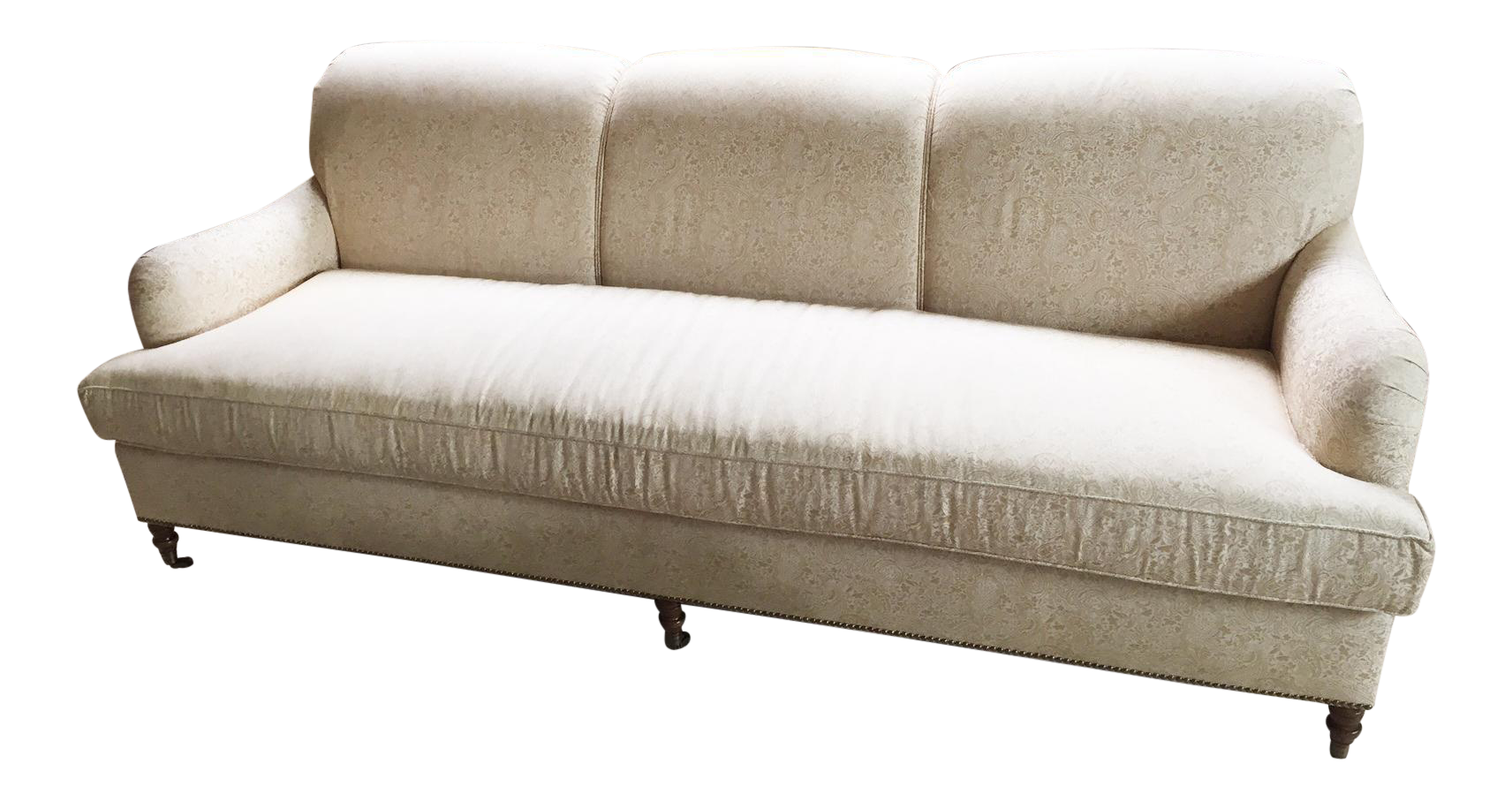 Kravet Traditional Upholstered Sofa With Nailheads