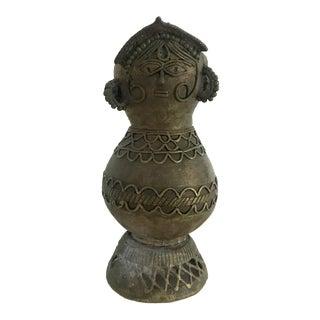 Vintage Primitive Brass Vessel For Sale