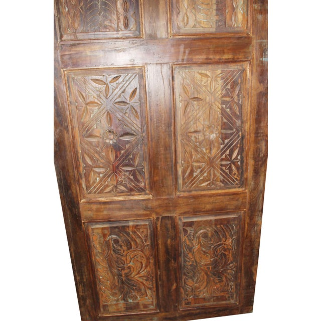 Industrial 19th Century Antique Carved Door For Sale - Image 3 of 5