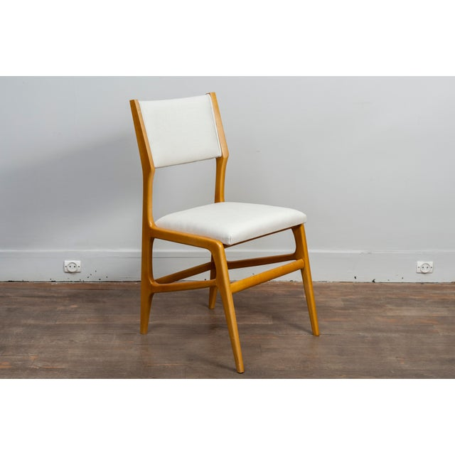 Ash Set of 12 Gio Ponti Ash Chairs, Model 687, Italy, 1953 For Sale - Image 7 of 9