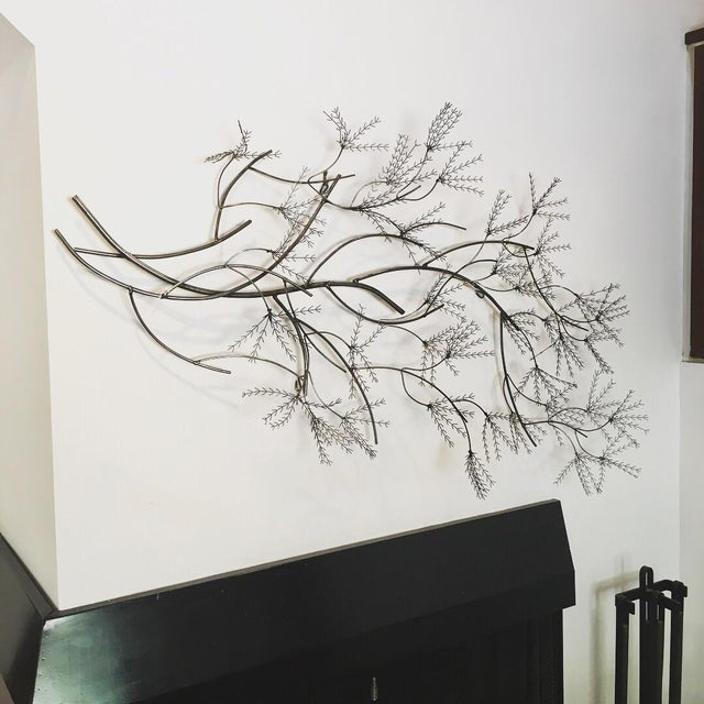 Curtis Jere signed Wheat Willow, date is illegible. Some of the branches are bent. It can be hung in every direction...