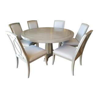 Bernhardt Criteria Round Dining Set with 6 Chairs For Sale