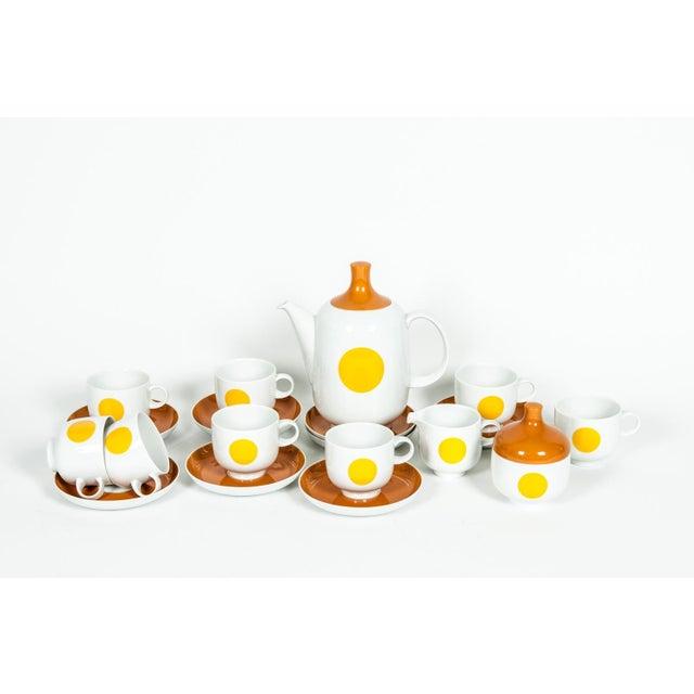 Brown Mid-Century Modern German Tea / Coffee Service - 18 Pc. Set For Sale - Image 8 of 10