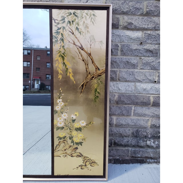 Vintage Labarge Large Chinoiserie Style Mirror For Sale In New York - Image 6 of 12