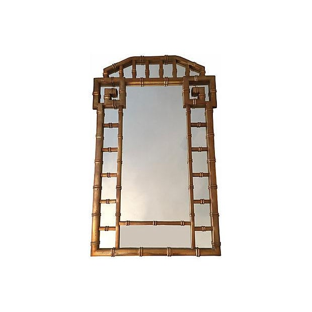 Greek Key Gold Frame Mirror 1960's - Image 2 of 7