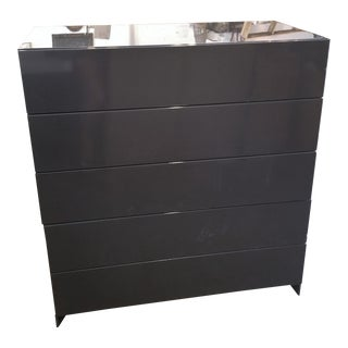 Bensen Brix Modular High Gloss Charcoal Chest of Drawers