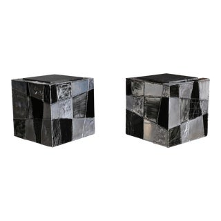 "Paul Evans ""Argente"" Cube Side Tables For Sale"