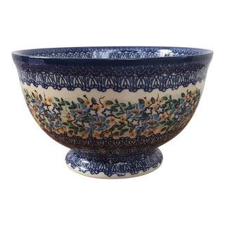 Handmade in Poland Pedestal Bowl Signed Maria Starzyk