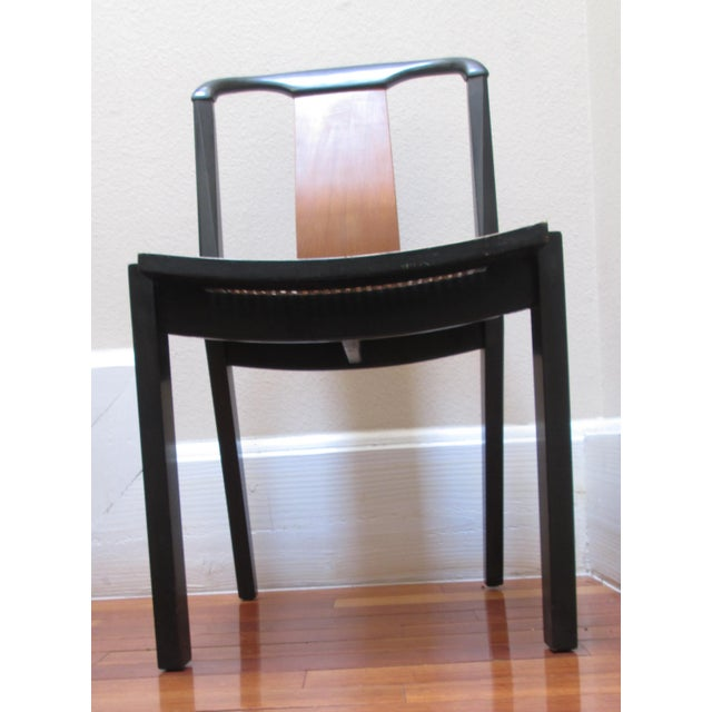 Asian 1950s Mid-Century Modern Michael Taylor for Baker Furniture Side Chair For Sale - Image 3 of 11
