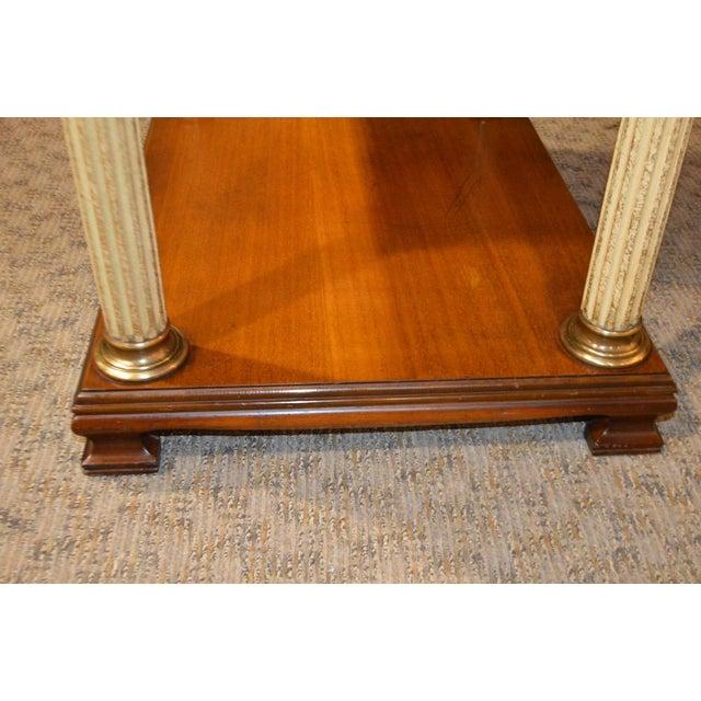 Vintage Neo-Classic Style Corenthian Column Leg Side Tables - a Pair For Sale - Image 11 of 13