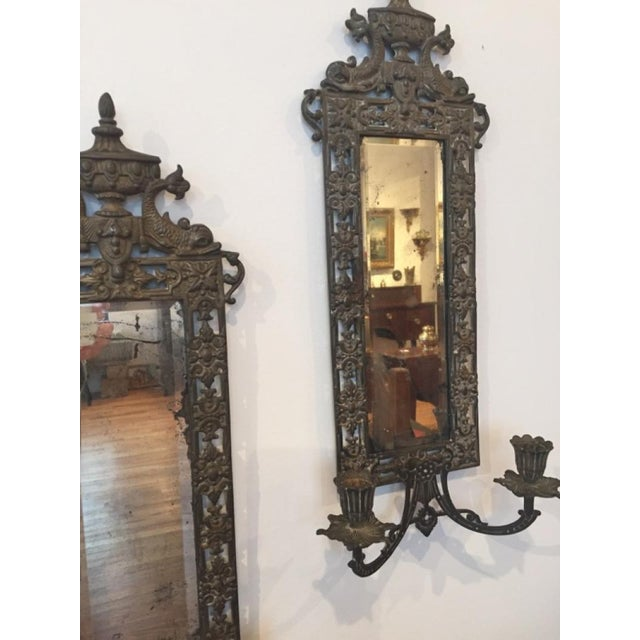 Mid 19th Century 19th Century Victorian Cast Iron Sconces - a Pair For Sale - Image 5 of 7