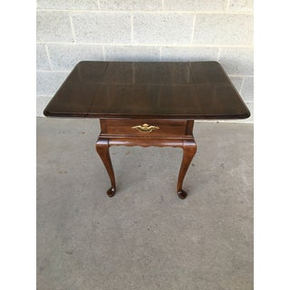 Georgian Court Queen Anne Style Ethan Allen Drop Leaf Side Table Preview
