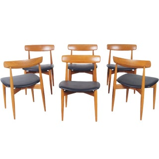 Danish Modern Teak Dining Chairs by h.w. Klein For Sale