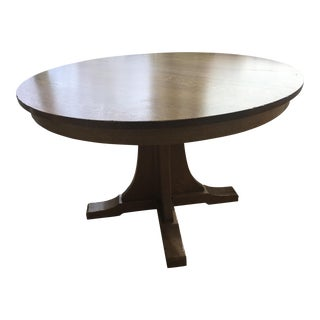 Mission Style Stickley Solid Oak Dining Table For Sale