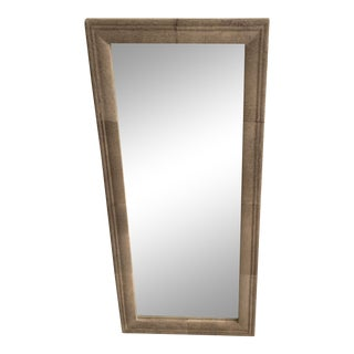 "Made Goods Full Length ""Charles"" Grey Cowhide Mirror For Sale"