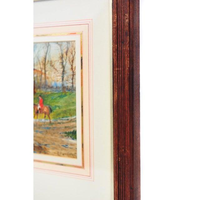 19th Century English Fox Hunt Oil Painting - Image 6 of 8