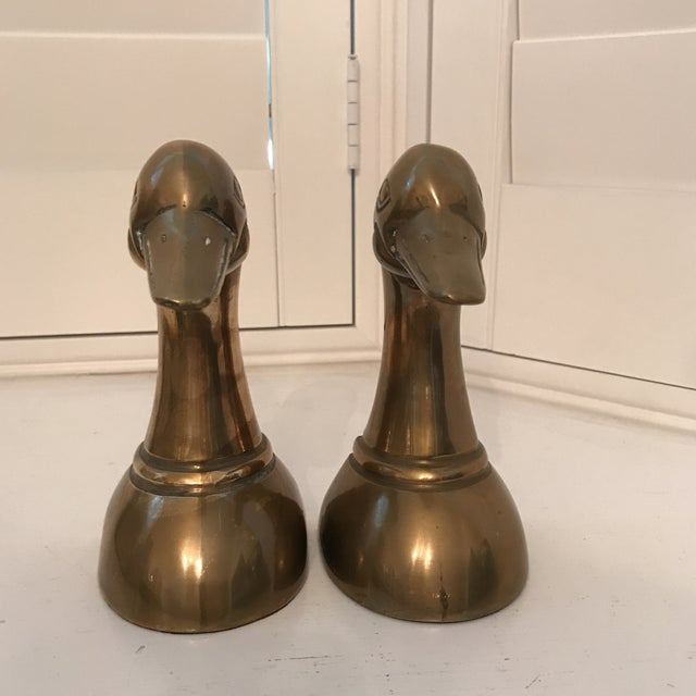 Gold 1960s Danish Modern Brass Duck Bookends - a Pair For Sale - Image 8 of 8