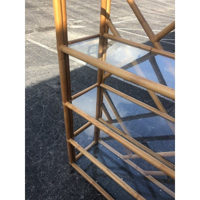 Vintage Tall Bamboo Etagere For Sale In Miami - Image 6 of 10