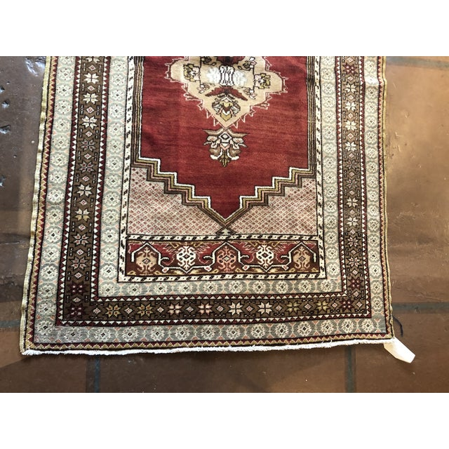 Antique Turkish Wool Rug For Sale - Image 4 of 7