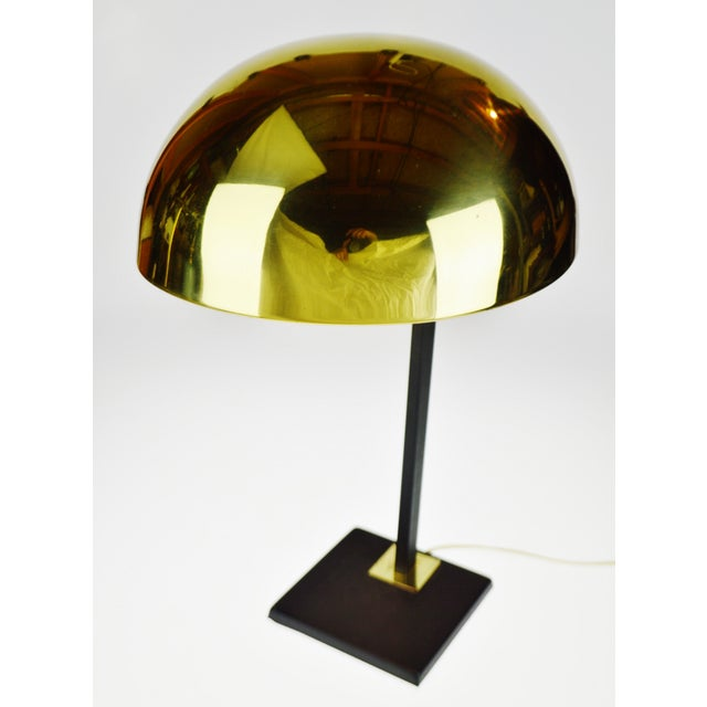 Mid Century Brass Dome Shade Desk Lamp For Sale - Image 4 of 13